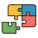 contact us, feedback, game, jigsaw, puzzle icon