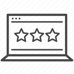 comment, experience, feedback, rating, reviews, stars, testimonial icon