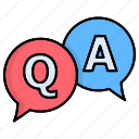 answer, feedback, question, qna, bubble, chat icon