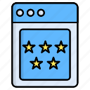 five, rate, rating, review, star, stars icon