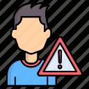 alert, attention, warming icon