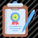 award, badge, quality icon