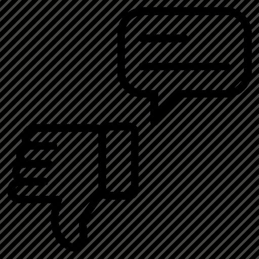 bad, bubble, dislike, feedback icon