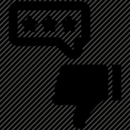 dislike, feedback, review icon