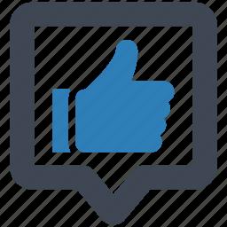 good, positive, response icon