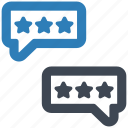 chat, message, review icon