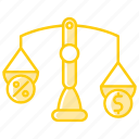 balance, budget, fees, judge, law, payment icon