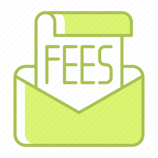 correspondence, email, fees, message, payment icon