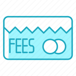 card, credit, fees, online payment, payment icon