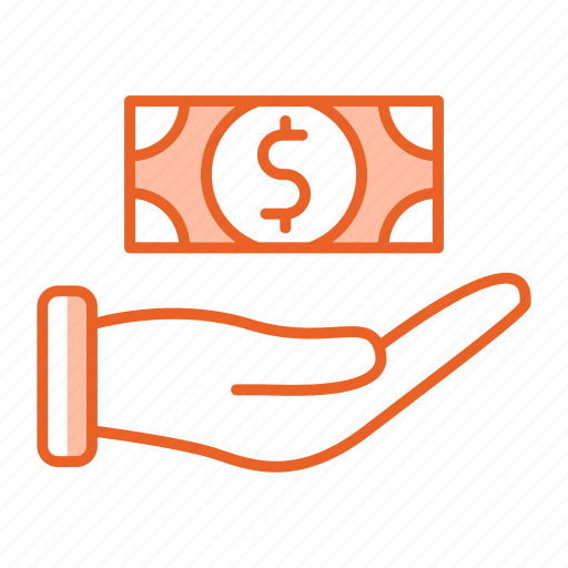 discout, fees, hand, payment, refund icon