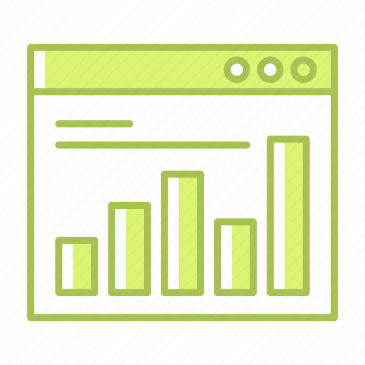 analytics, chart, fees, graph, payment, report, web page icon
