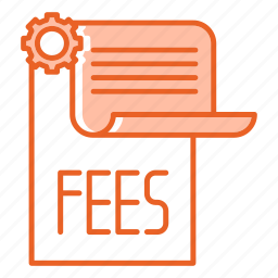 business, fees, growing, paper, payment icon