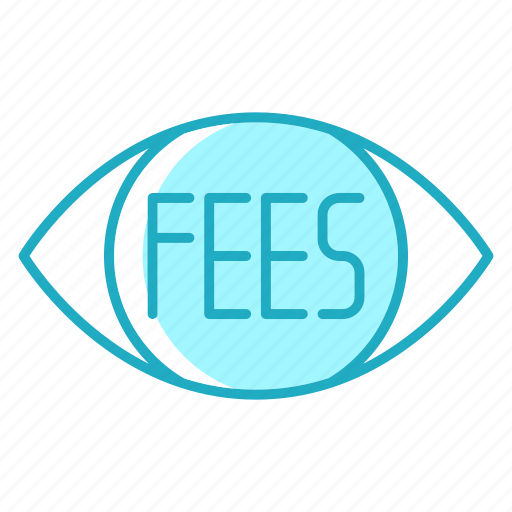 eye, fees, market, payment, vision icon