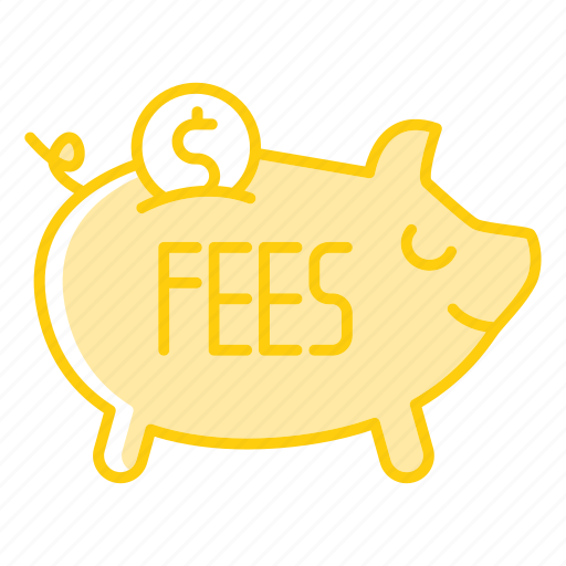 bank, fees, invest, payment, piggy icon