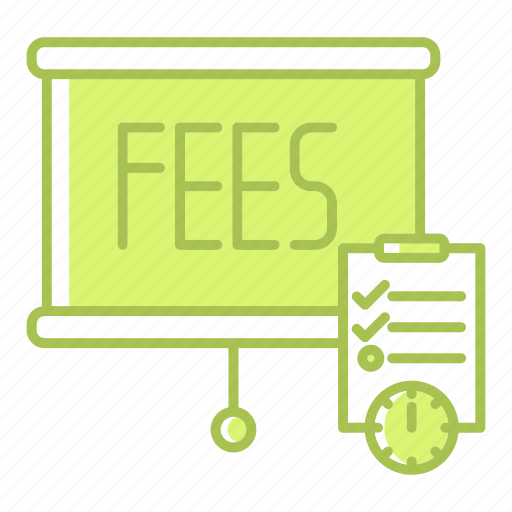 fees, payment, planning, schedule, table, timer icon
