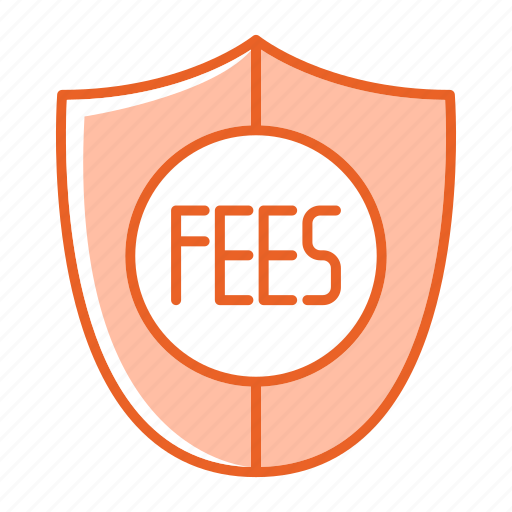 fees, payment, security, shield icon