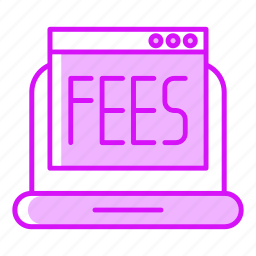 device, fees, payment, pc, statistic icon