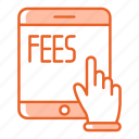 device, fees, payment, tablet, technology icon