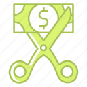 expenses, fees, general, money, payment, scissors icon