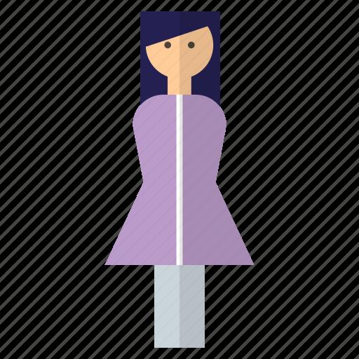 fashion, girl, lady, person icon