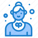 catering, employee, restaurant, service, waitress icon