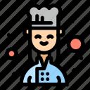 chef, cook, female icon