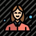 avatar, beautician, female, woman icon
