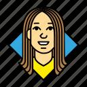 account, avatar, businnes, female, profile, user, woman