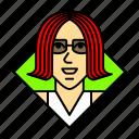 avatar, boss, business, leader, profile, redhead, woman