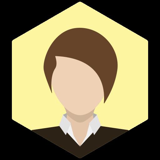 assistant, avatar, brunette, female, portrait, profile, woman icon