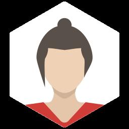 avatar, brunette, casual, female, portrait, profile, woman icon