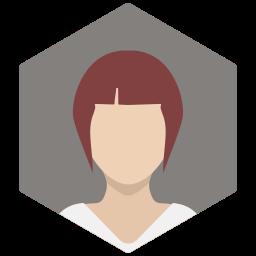 avatar, casual, female, portrait, profile, redhead, woman icon