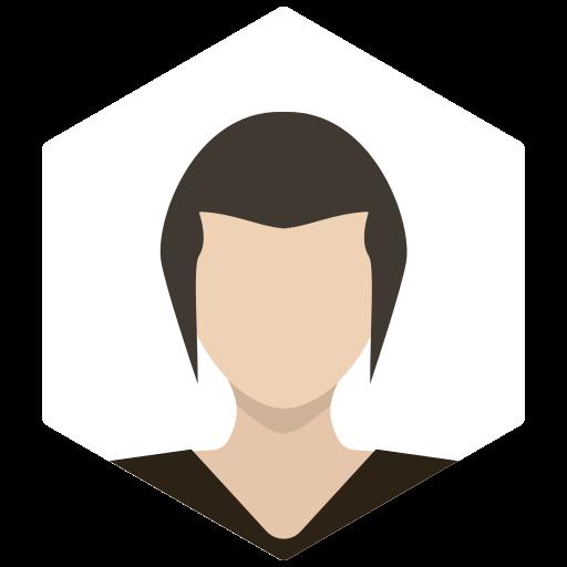 avatar, brunette, female, girl, portrait, profile, woman icon