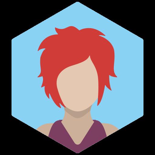 avatar, female, portrait, profile, redhead, sexy, woman icon