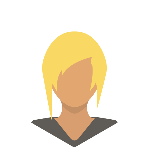 avatar, blonde, female, portrait, profile, sporty, woman icon
