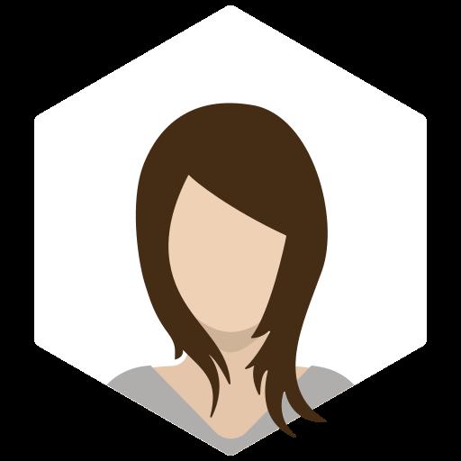 avatar, brunette, female, portrait, profile, sporty, woman icon