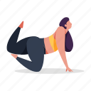 sports, character, builder, female, woman, pose, yoga, stretch