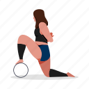 sports, character, builder, pilates, yoga, fitness, stretch