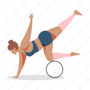 sports, character, builder, stretch, yoga, pose, female, person