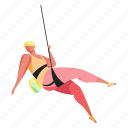 sports, character, builder, wall, climbing, climb, woman, sport