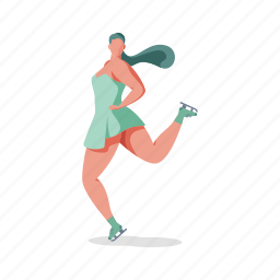 sports, character, builder, woman, figure, skating, sport