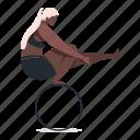 sports, character, builder, woman, yoga, circle, female