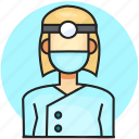 avatar, dentist, job, profession, woman icon