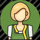 avatar, female, job, profession, tailor, woman icon