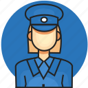 avatar, job, police, profession, woman icon