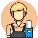 avatar, cashier, job, profession, woman icon