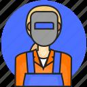 avatar, job, profession, welder, woman