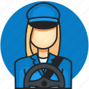 avatar, driver, job, profession, woman icon
