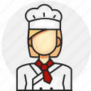 avatar, chef, job, profession, woman icon