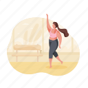 sports, character, builder, woman, studio, fitness, sport
